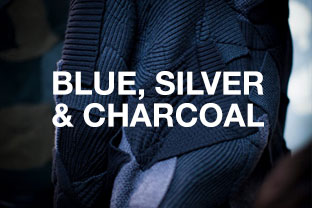 Blue, Silver & Charcoal Rugs